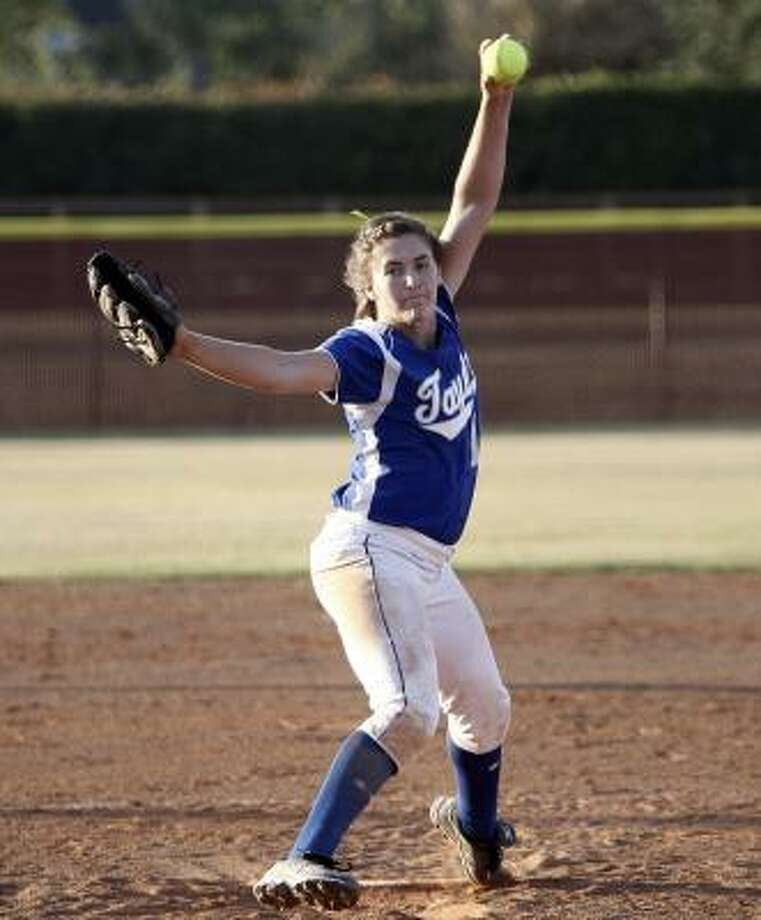 Katy Taylor's Jennifer Hooker was stellar in the area round of the playoffs. Photo: Bob Levey, For The Chronicle