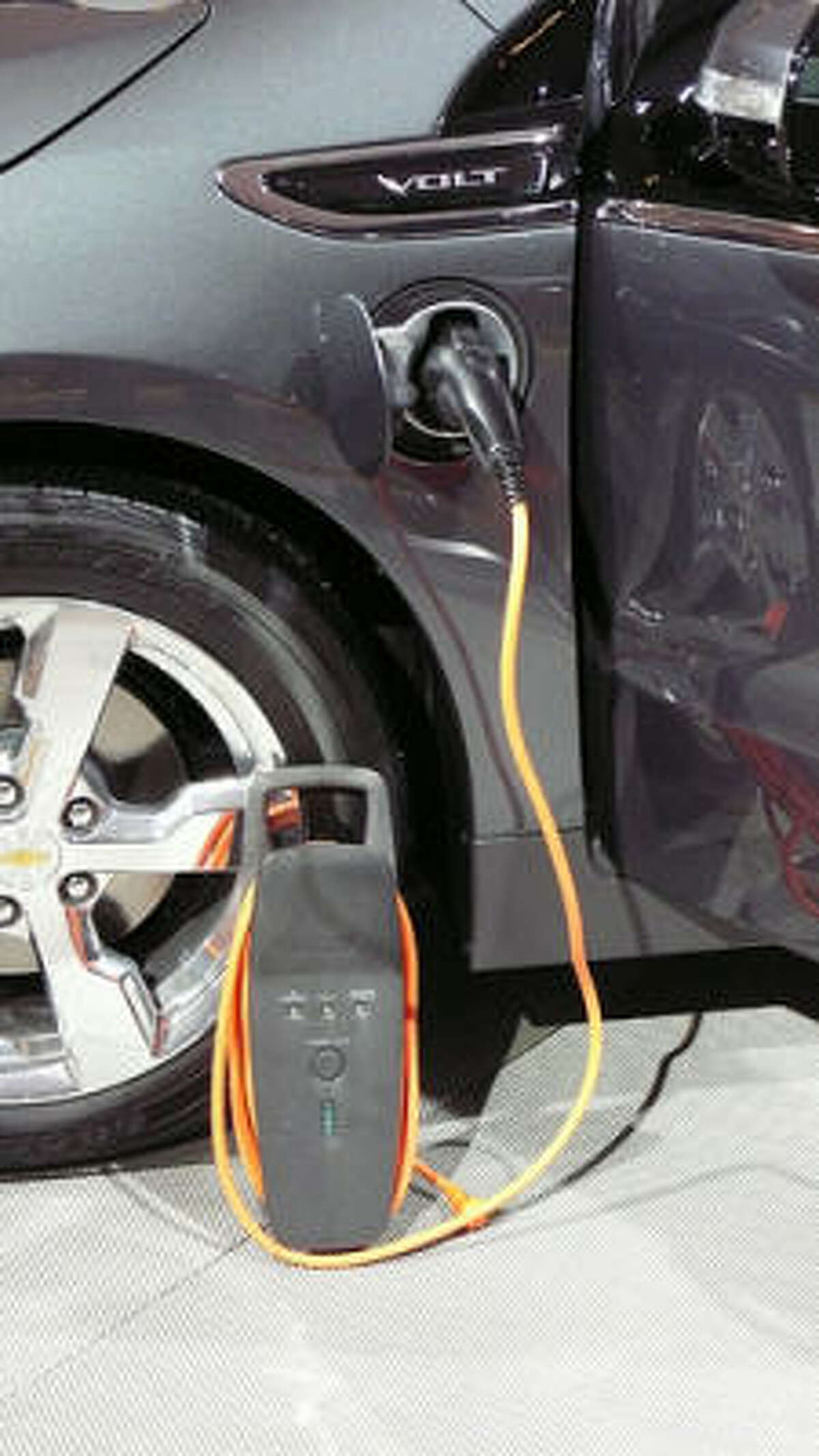 A portable Chevy Volt charger.
