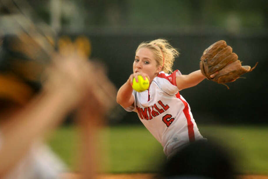 Tomball senior Meme Quinn and the Lady Cougars improved to 6-0 in district play. Photo: Jerry Baker, For The Chronicle