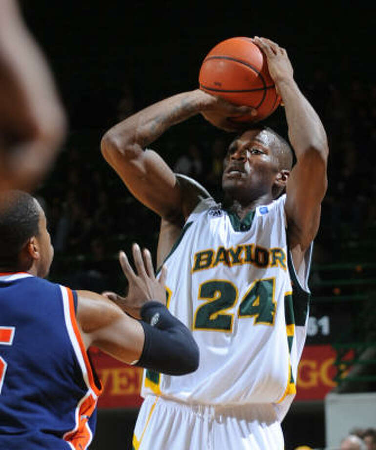 Baylor's LaceDarius Dunn was 10-of-18 from behind the arc in scoring a career-high 43 points on Tuesday night. Photo: Rod Aydelotte, AP