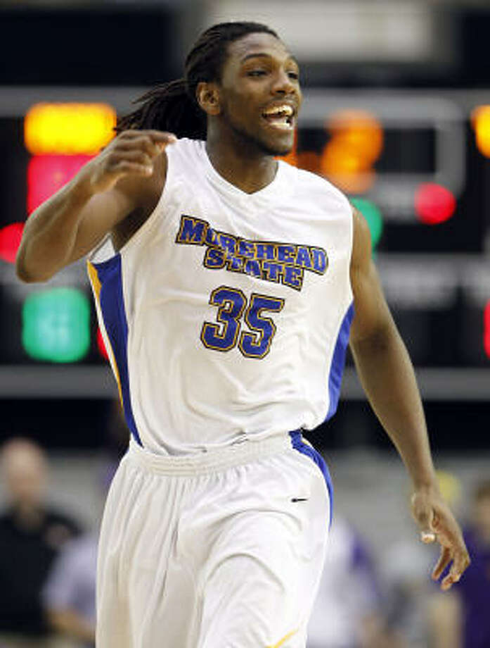 Morehead State's Kenneth Faried broke Tim Duncan's modern-day record for career rebounds earlier this season. Photo: Wade Payne, AP