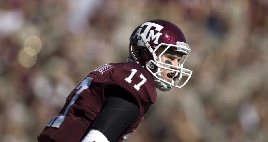 Ryan Tannehill is 6-0 since taking over as Texas A&M's starting quarterback midway through the season. Photo: Nick De La Torre, Chronicle