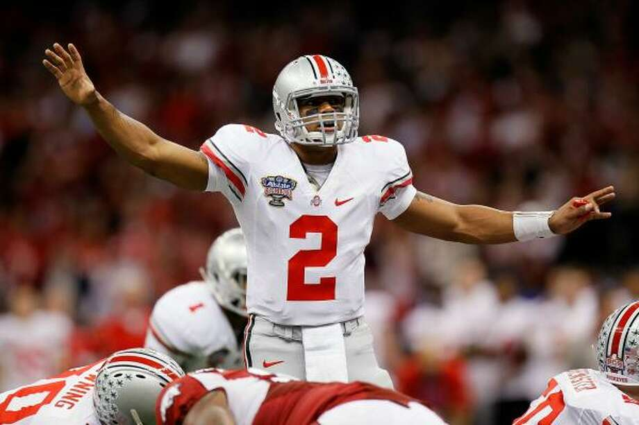 Ohio State quarterback Terrelle Pryor passed for 221 yards and two touchdowns on Tuesday night. Photo: Kevin C. Cox, Getty Images