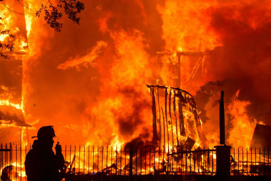 Houston firefighters responded to a 3-alarm fire in the 1100 block of Heights Blvd.  • See  a photo gallery from the scene. Photo: Smiley N. Pool, Houston Chronicle
