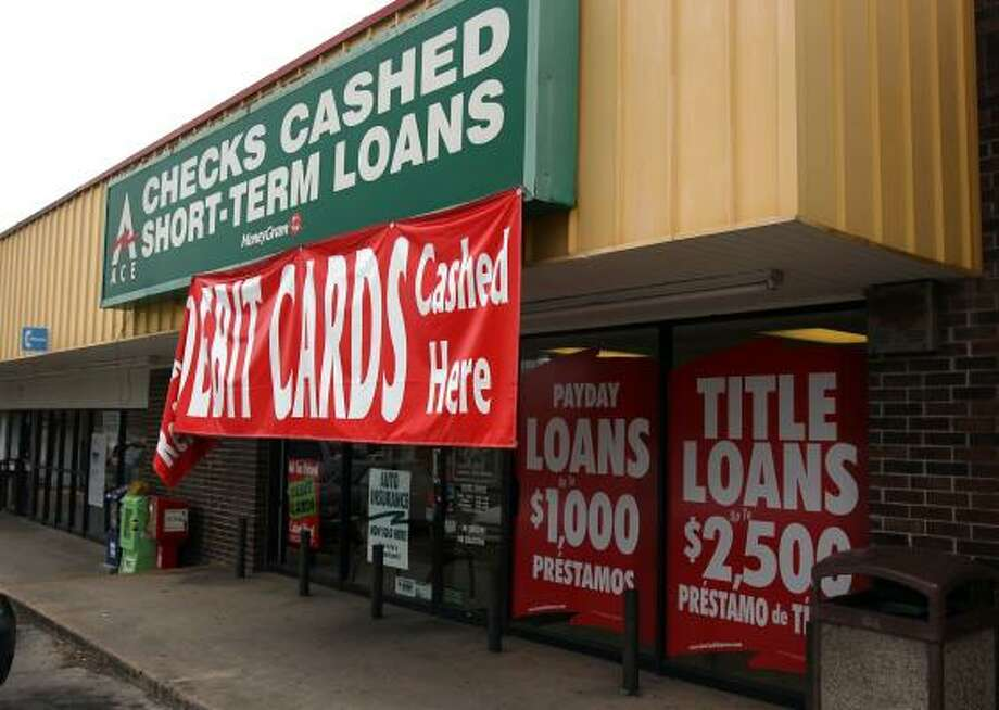 Ace Cash Express is a short-term lender that offers payday loans. State lawmakers have proposed legislation that would tighten rules on payday lenders. Photo: John Davenport:, Express-News