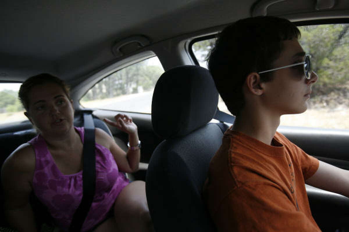 Stephanie Regets said she wanted to teach her son Zander, 15, to drive to give him more one-on-one instruction behind the wheel, something she said her own driving instruction lacked.