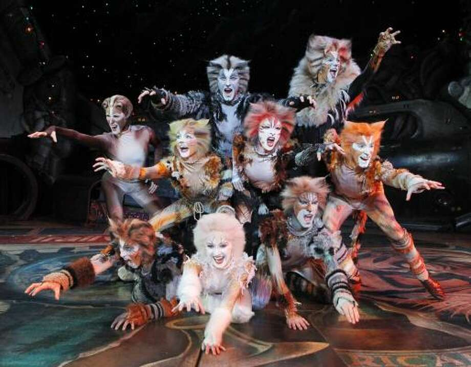 """PROWLING ON STAGE: Seabrook's Laura Elizabeth Henning, back row, left,  is performing in a national touring production of """"Cats"""" on stage at the Hobby Center for the Performing Arts, 800 Bagby St., Houston. Performances are Tuesday through Sunday, April 12–17. Photo: COURTESY JOAN MARCUS, ALL"""
