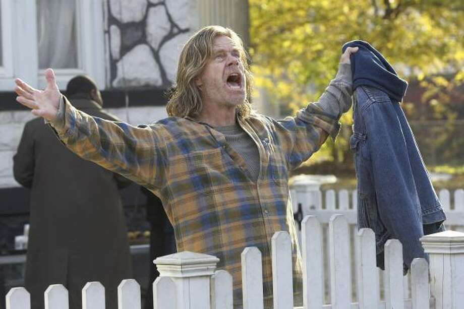 William H. Macy stars as Frank Gallagher, an out-of-work dad supporting his family with disability checks from a questionable work injury, in Shameless. Photo: Chuck Hodes