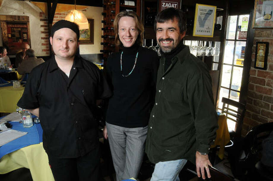 Chef Jeremy Griffin, from left, with Genevieve and Jean-Philippe Guy at Bistro Provence. Photo: Dave Rossman, For The Chronicle