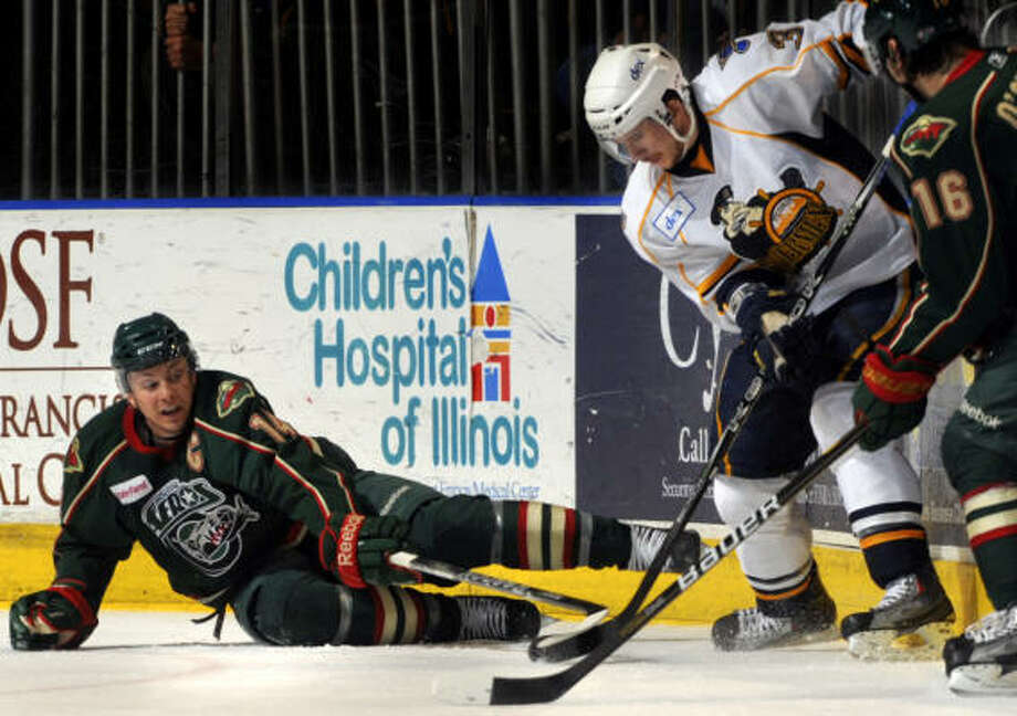 The Aeros emerged from the first round with an unblemished playoff record. Photo: RON JOHNSON, For The Chronicle