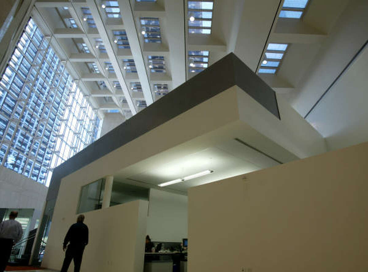 The PageSoutherlandPage engineering and architectural firm's offices at 1100 Louisiana were among several locations chosen for The Tree of Life, filmed partly in Houston.