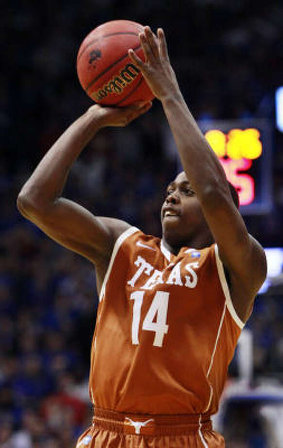 Texas guard J'Covan Brown scored 23 points in Saturday's win at Allen Fieldhouse. Photo: Orlin Wagner, AP