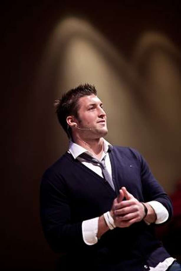 Tim Tebow speaks at the Born To Be Wild: The Man Journey event Feb. 4 in Houston.