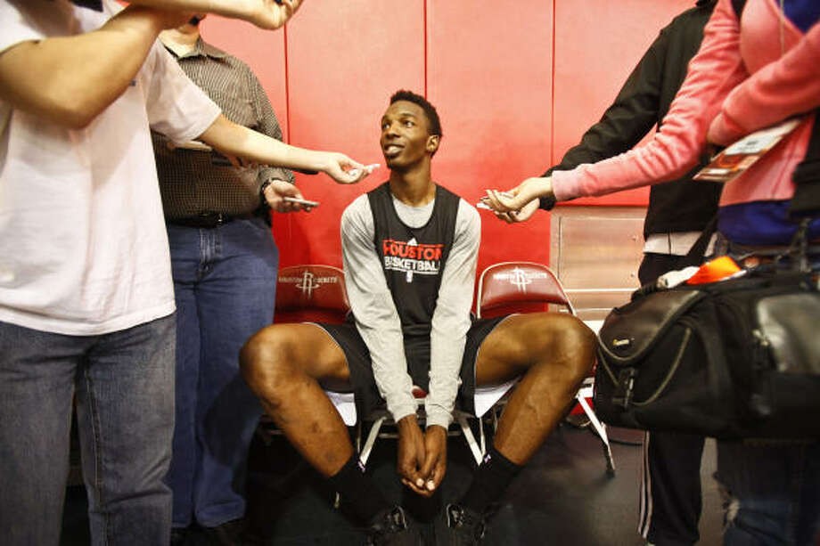 Questions surround new Rockets center Hasheem Thabeet. Photo: Michael Paulsen, Chronicle
