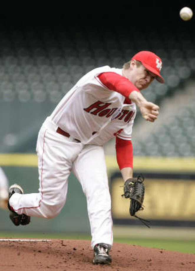 Codey Morehouse provided another quality start in Tuesday's win over Texas A&M. Photo: Cody Duty, Chronicle