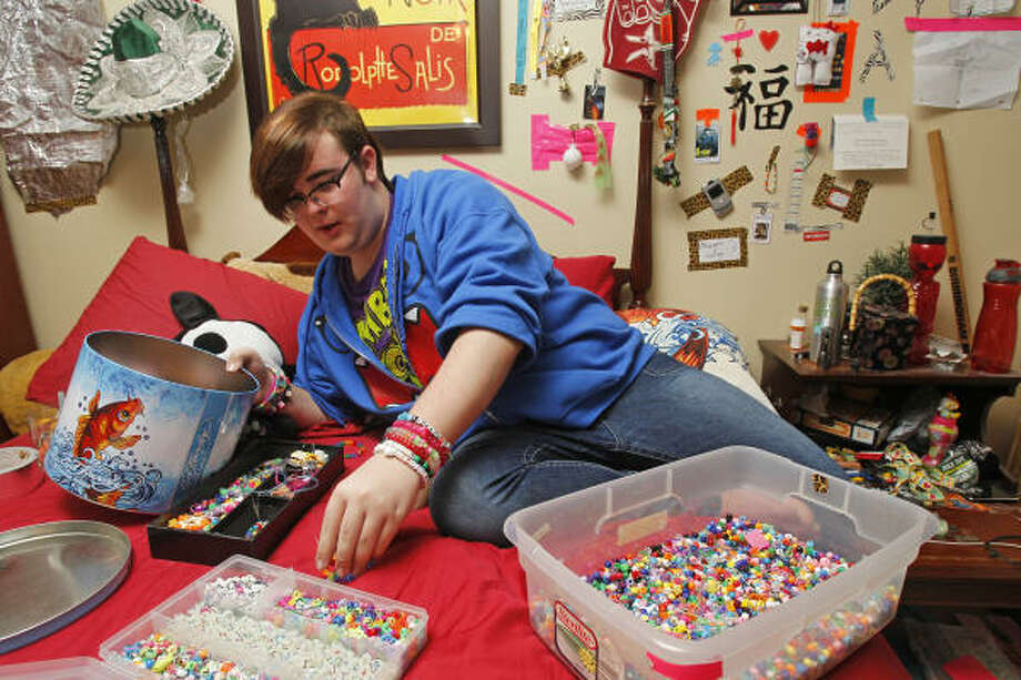Jaxn Hussey, 15, who attends Plymouth United Church in Spring, has been helping to promote Sunday as Bring Your Gay Teen to Church Day in the Houston area. Photo: Melissa Phillip, Chronicle