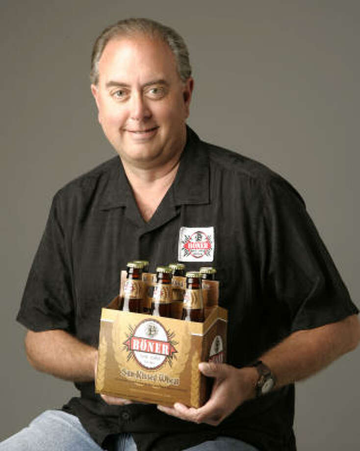 Bob Lesch, founder of Böner Beer, hopes to sell 79,000 cases this year. The brand started out as a joke on a T-shirt 20 years ago. Photo: James Nielsen:, Chronicle