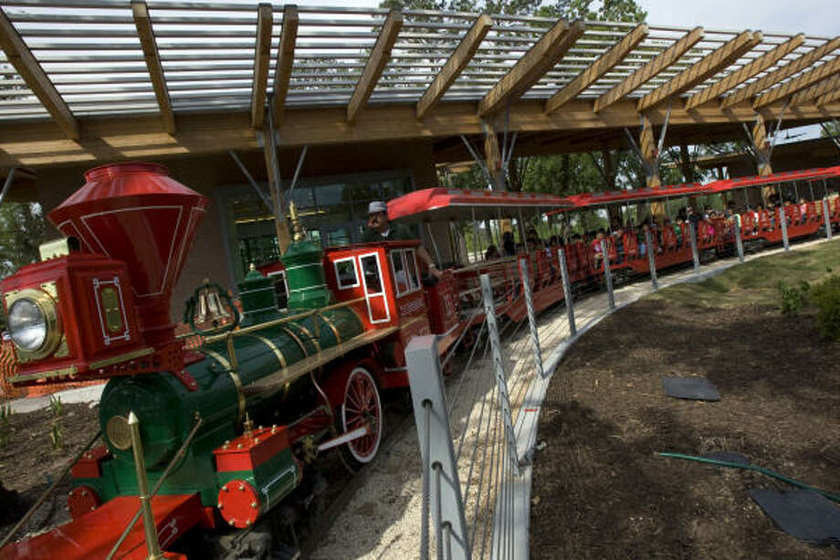 Hermann Park Railroad's miniature train is a one-third-size replica of an 1863 C.P. Huntington steam train. It is only closed on Christmas and Thanksgiving. Photo: FILE PHOTO