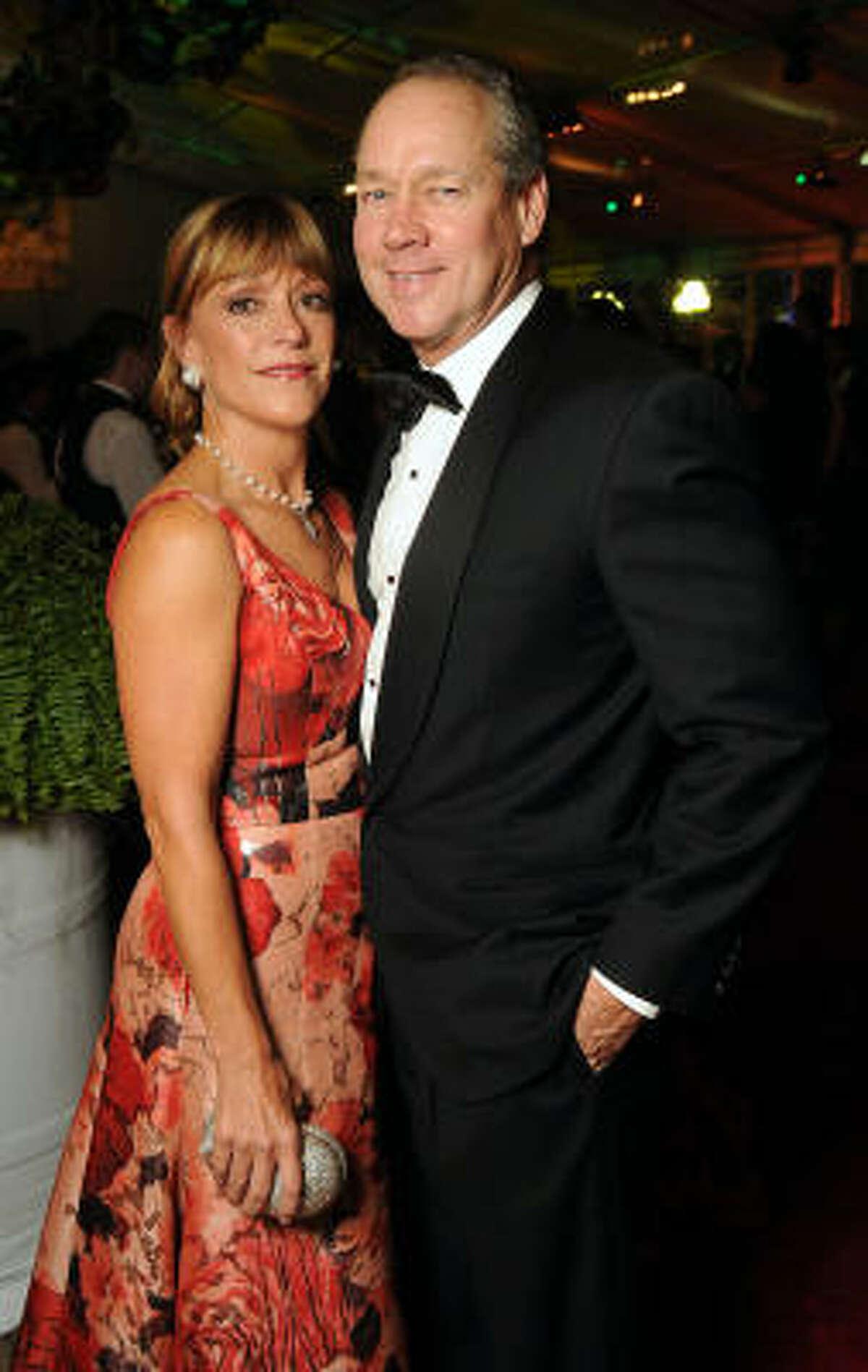 Franci and Jim Crane seen at the Houston Grand Opera's 2010-2011 season opener.