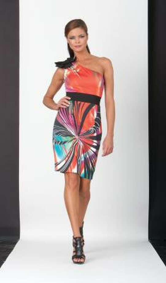 This one-shoulder summer-weight style from Nue by Shani is $280 at Dillard's. Photo: Nue By Shani