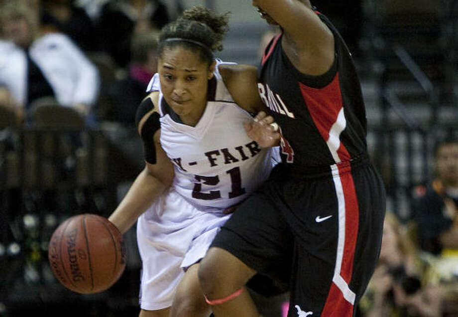 Cy Fair senior guard Cassie Peoples, who signed with Texas, averages 24 points for the Bobcats. Photo: Chronicle File Photo