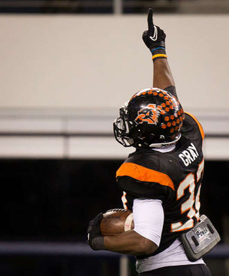 Running back Johnathan Gray scored eight touchdowns in Aledo's Class 4A Division II state title game victory over La Marque in December. Photo: Smiley N. Pool, Chronicle