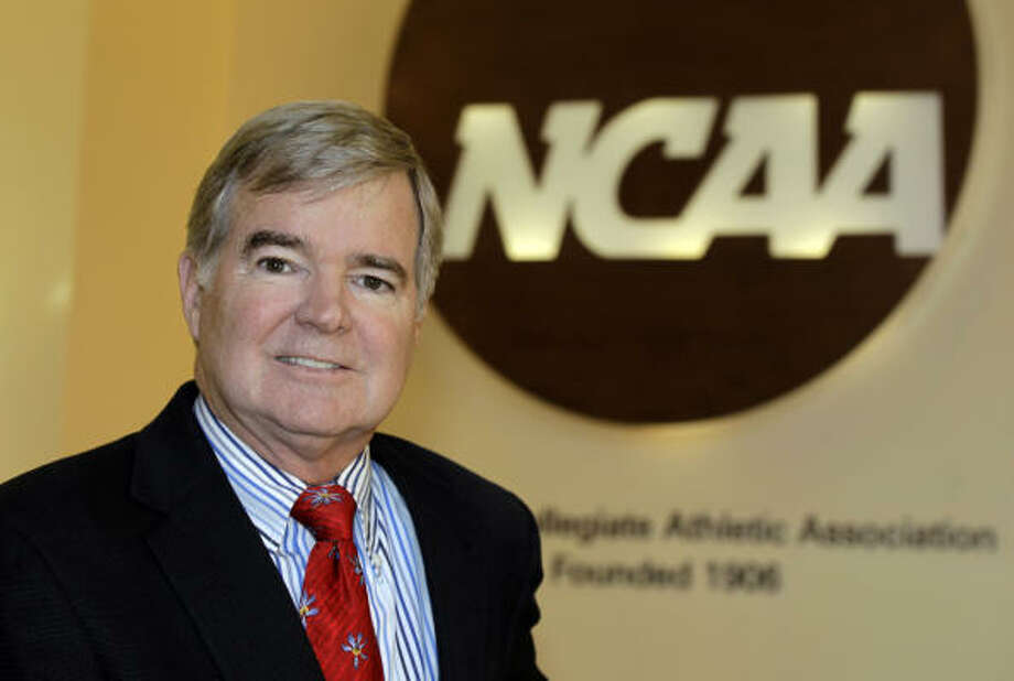 NCAA president Mark Emmert has focused on the issue of improper dealings between agents and athletes. Photo: Darron Cummings, AP