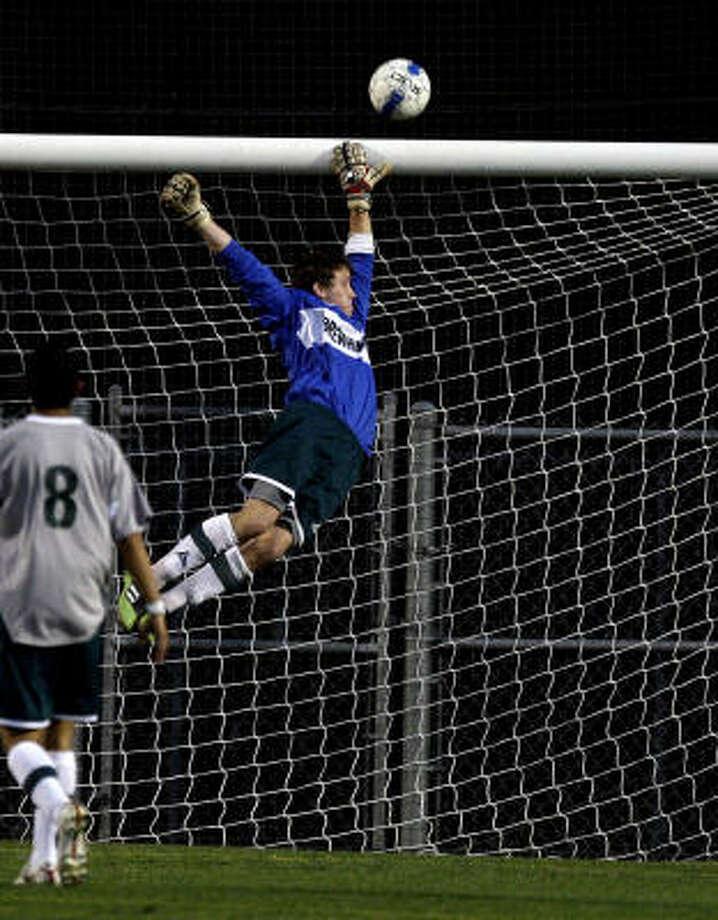 Drew Clanahan's heroics in goal helped boost Brenham. Photo: Bob Levey, Chronicle