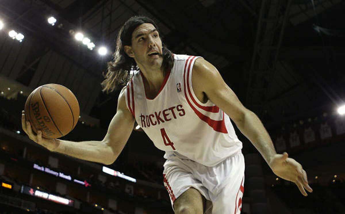 Rockets forward Luis Scola averaged 18.3 points and 8.2 rebounds during the 2010-11 season.