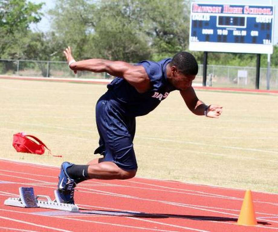 Senior Dominique Charles seeks to defend his regional title in the 400-meter dash. Photo: Gerald James, Chronicle