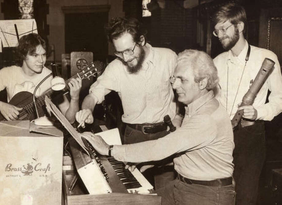 Robert Moog performs with the Going Barogue Band at All Souls Episcopal Church in Asheville, N.C., in 1980. Moog, who died in 2005, started his company in 1954. The Moog synthesizer made portable the ability to create a huge variety of sounds. Photo: Asheville Citizen-Times