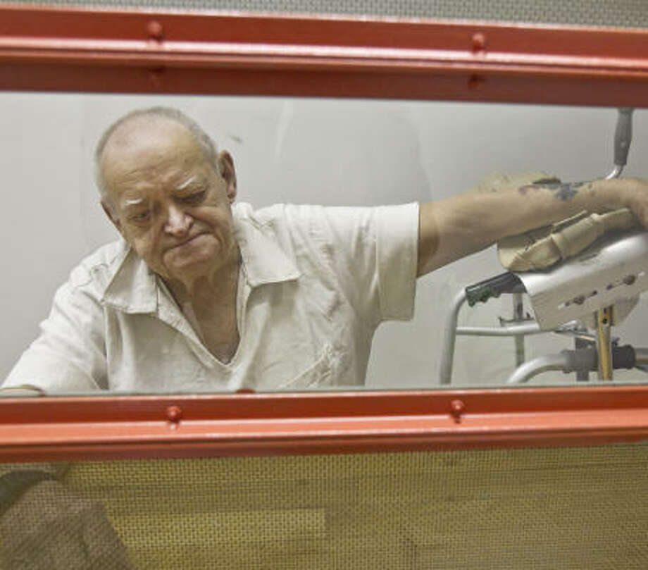 Raymond Palen, 79, is serving 20 years for sexual assault at the Texas Department of Criminal Justice Estelle Unit in Huntsville. He uses a walker and has diabetes and arthritis. Photo: Melissa Phillip, Chronicle