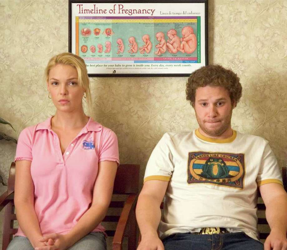 "Before Katherine Heigl, shown here with co-star Seth Rogen, was cast as the uptight TV producer Alison Scott in ""Knocked Up,"" the role was going to go to... / AP2007"