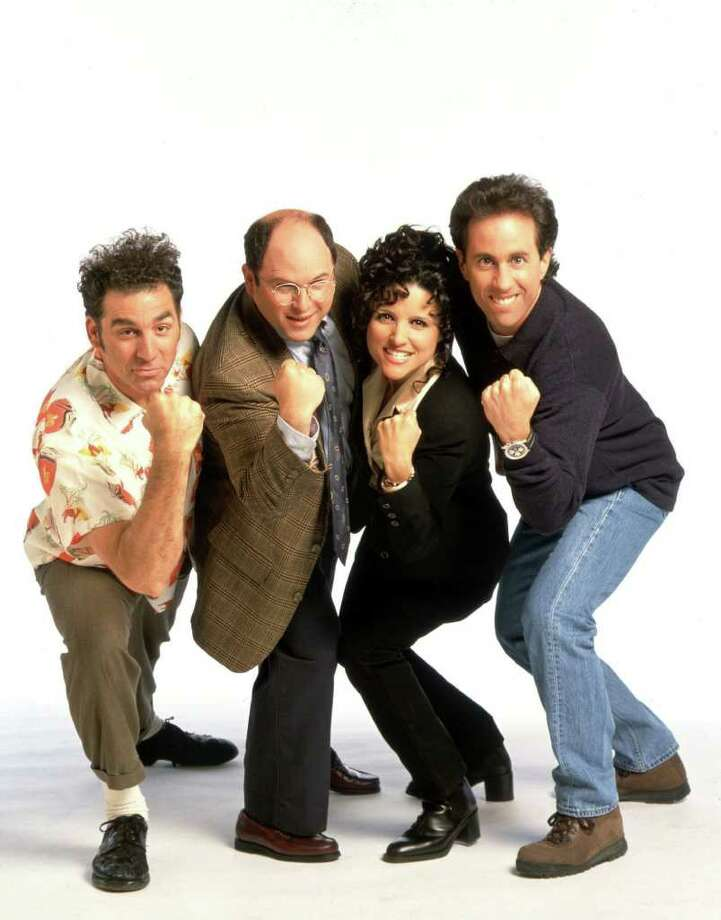 "The role of George Costanza on ""Seinfeld"" went to Jason Alexander, second from left, whose initial performance, a watered-down Woody Allen impression, morphed into an over-the-top impersonation of the show's doubt-riddled co-creator, Larry David. But Jerry Seinfeld originally offered the role to..."