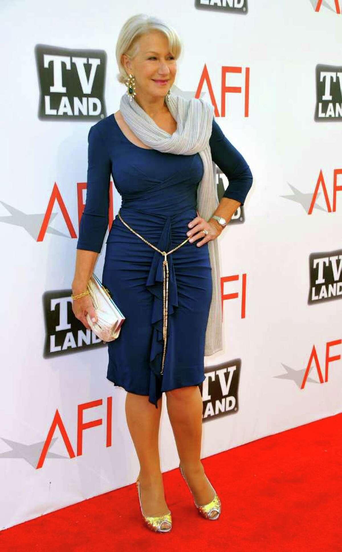 Helen Mirren, 66, was voted the top
