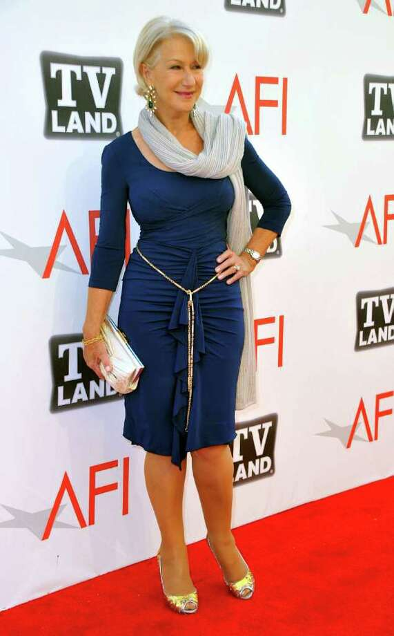 """Helen Mirren, 66, was voted the top """"Best Body"""" Female Celebrity with 17.65% of the vote. LA Fitness gym chain commissioned the poll, which surveyed 2000 people. Photo: Alberto E. Rodriguez, Getty Images / 2011 Getty Images"""