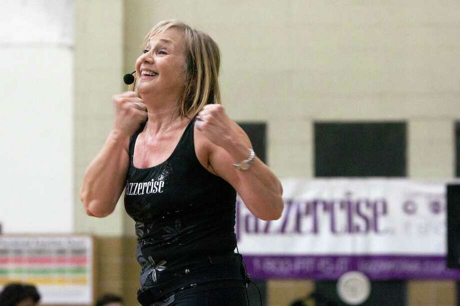 Jane Luco has been leading a Jazzercise session in the Heights area (now meeting at Garden Oaks Baptist Church Gym) for over 30 years.  Photo by R. Clayton McKee Photo: R. Clayton McKee, Freelance / © R. Clayton McKee
