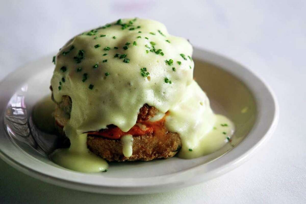 Eggplant Josephine with a hollandaise sauce is one of Bella's more memorable appetizers.