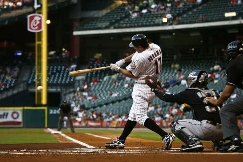 The Astros are 5-1 since first baseman Lance Berkman has returned to the active roster. Photo: Michael Paulsen, Chronicle