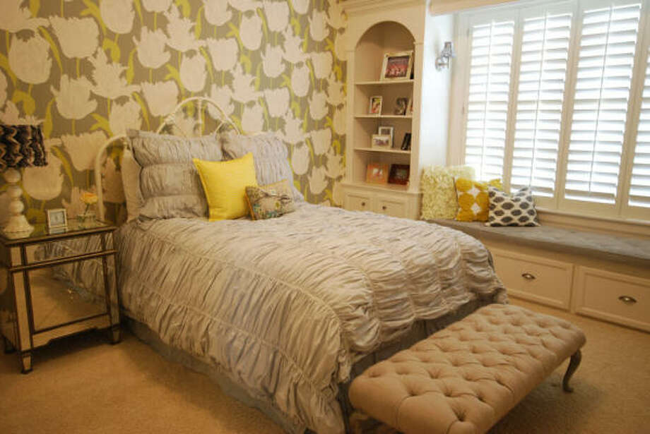 Caitlyn Luther's bedroom is modern and girlish. Photo: CAROLINA SAUNDERS, SALLY WHEAT INTERIORS
