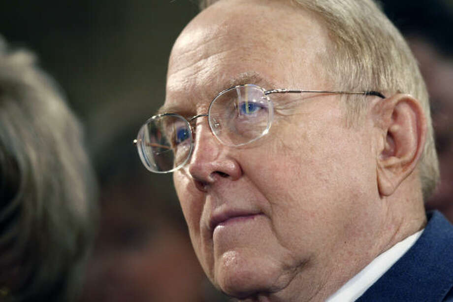 A year after announcing his resignation as Focus on the Family chairman, James Dobson said he and his son will host a radio show starting in March. Photo: ASSOCIATED PRESS FILE