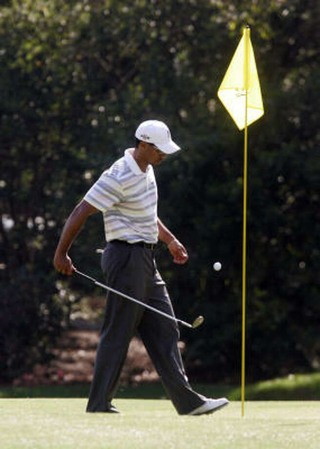Tiger Woods says his injured right Achilles, which slowed him all of last year, has healed. Photo: Gerry Melendez, MCT