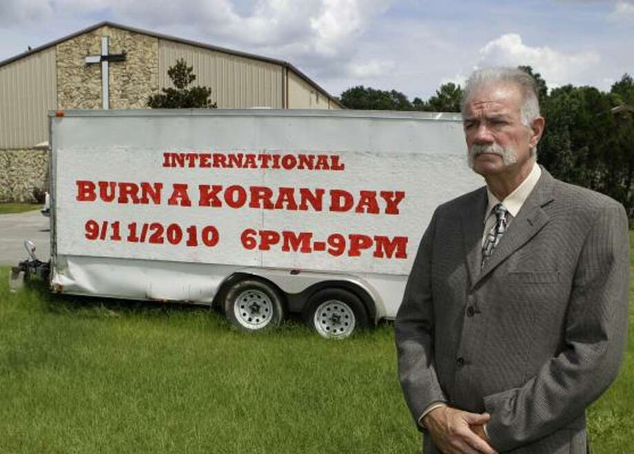 The Rev. Terry Jones planned to burn copies of the Quran in Gainesville, Fla., to mark the Sept. 11 terrorist attacks. Photo: JOHN RAOUX,  ASSOCIATED PRESS