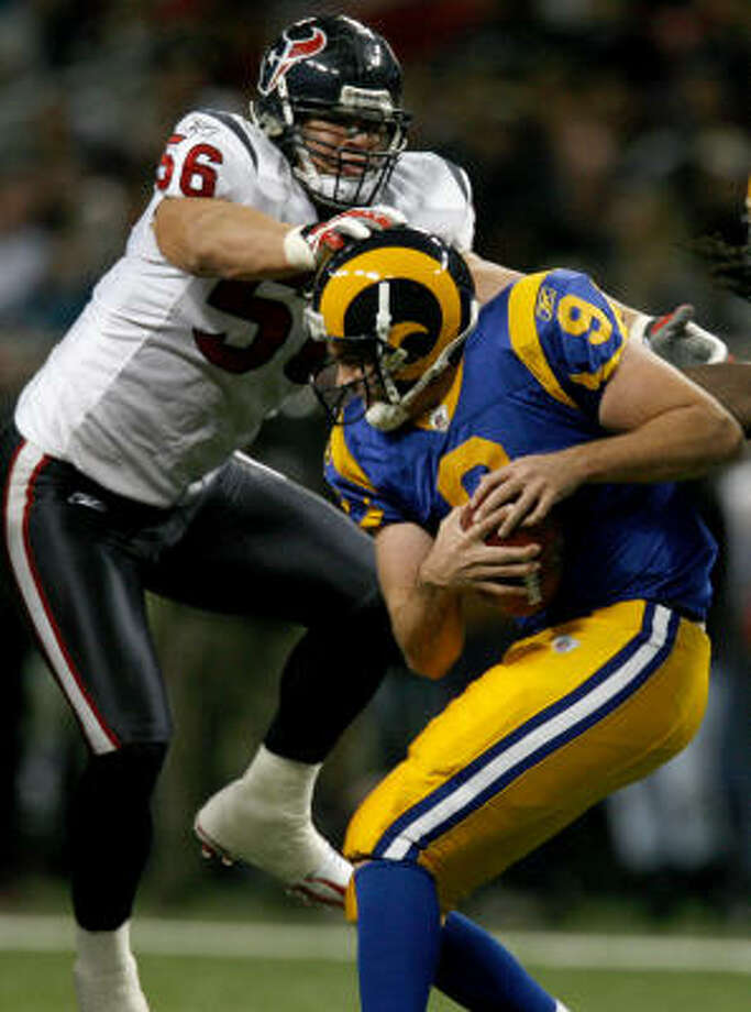 Texans outside linebacker Brian Cushing was second in the AFC with 133 tackles. Photo: Karen Warren, Chronicle