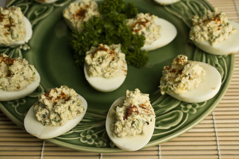 Goat Cheese Deviled Eggs Photo: JAMES NIELSEN :, CHRONICLE