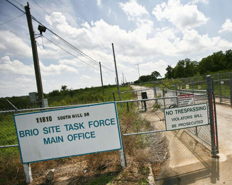 The 58-acre Brio site, located at 2501 Dixie Farm and Beamer Road, was declared a federal Superfund site after a $207 million court settlement for a 1992 toxic waste case. Photo: Michael Paulsen, Chronicle
