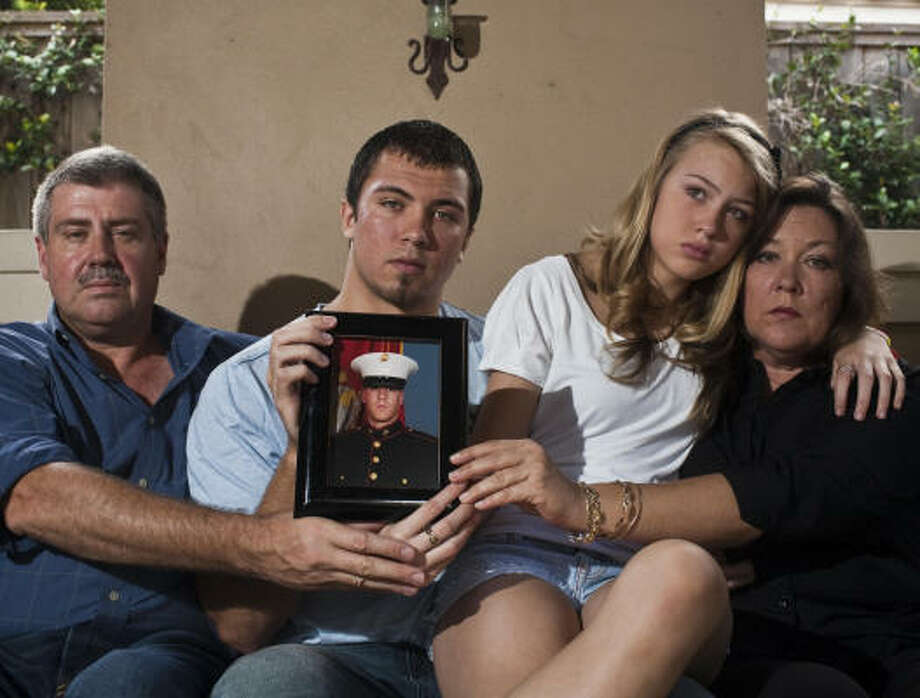Marine Lance Cpl. Shane Robert Martin, 23, was killed by a roadside bomb Thursday in Afghanistan. His parents, brother and sister live in Houston. Photo: Eric Kayne, Chronicle