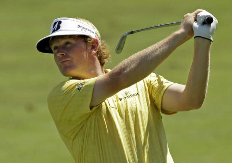 Brandt Snedeker moved into familiar territory atop the leader board of golf's final pre-playoff event. Photo: Chuck Burton, AP