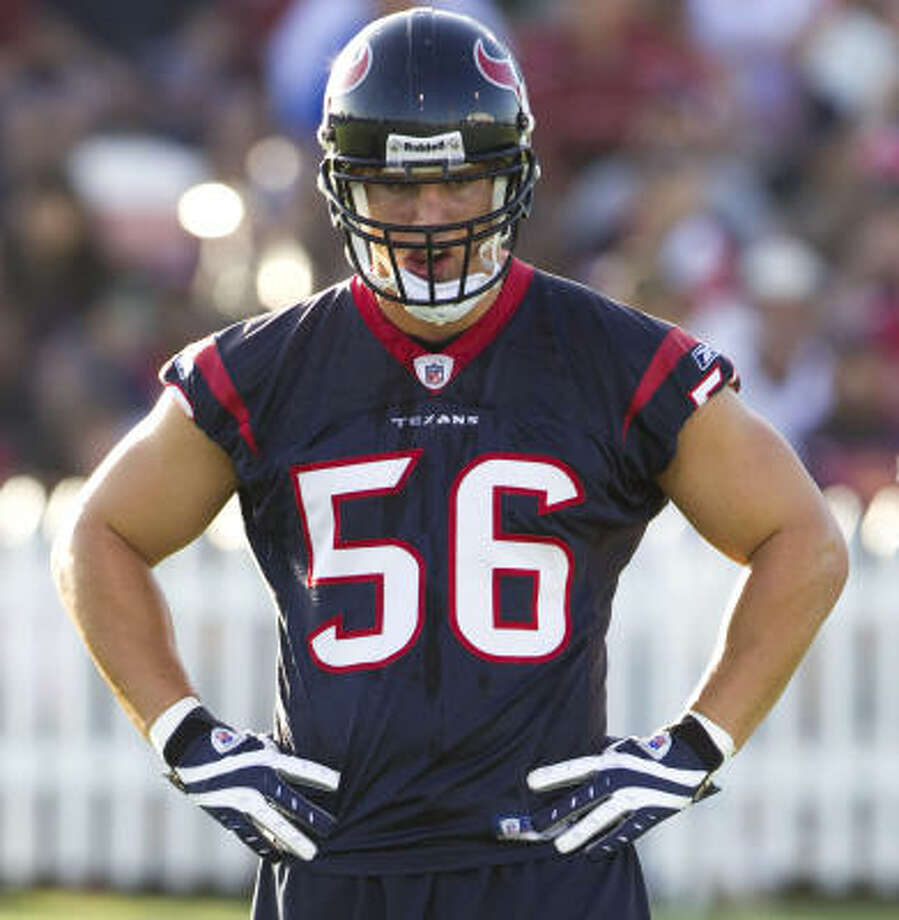 Brian Cushing has denied using hCG, a banned substance that can be used to mask steroids. Photo: Brett Coomer, Chronicle