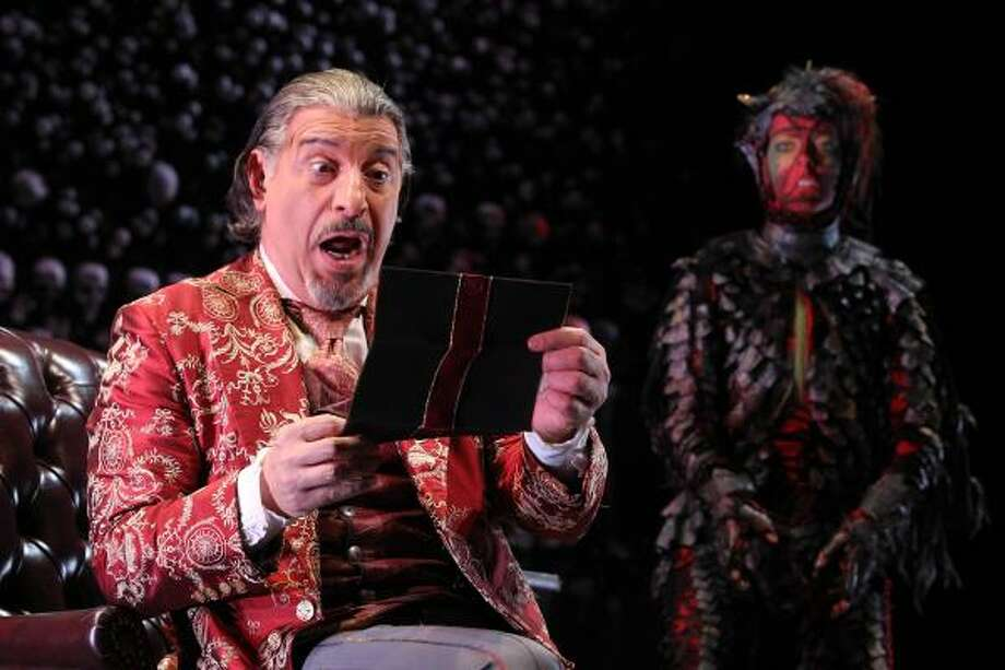 "Actor Max McLean plays Screwtape, one of Satan's top demons, in an adaptation of C.S. Lewis' The Screwtape Letters in New York. He says playing the part for several months has ""deepened my prayer life."" Photo: JOAN MARCUS : RELIGIOUS NEWS SERVICE"